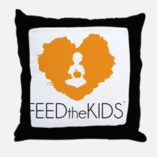 Feed The Kids Campagin Throw Pillow