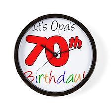 Opa 70th Birthday Wall Clock