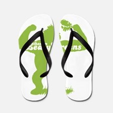 NEW love them leafy greens Flip Flops