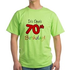 Opa 70th Birthday T-Shirt