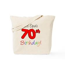 Opa 70th Birthday Tote Bag