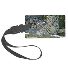 2 baby snow leopards Luggage Tag