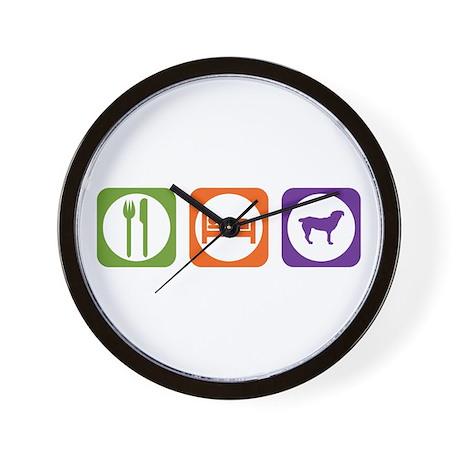 Eat Sleep Entlebucher Wall Clock