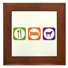 Eat Sleep Entlebucher Framed Tile