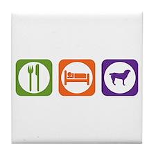 Eat Sleep Entlebucher Tile Coaster