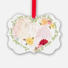 heartflowers1 Picture Ornament