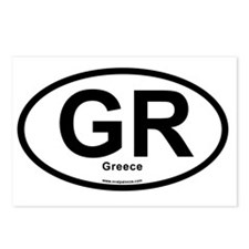 GR - Greece oval Postcards (Package of 8)