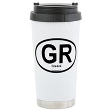 GR - Greece oval Travel Mug