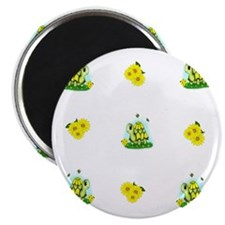 Turtle Sunflower and Butterflies Magnet