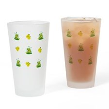 Turtle Sunflower and Butterflies Drinking Glass