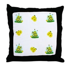 Turtle Sunflower and Butterflies Throw Pillow