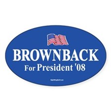 Sam Brownback for President '08 Oval Decal