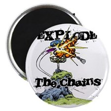 Disc Golf EXPLODE THE CHAINS Magnet