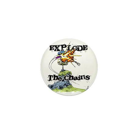 Disc Golf EXPLODE THE CHAINS Mini Button