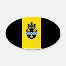 Pittsburgh Flag Oval Car Magnet