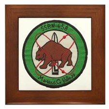 uss mariano g. vallejo patch transpare Framed Tile