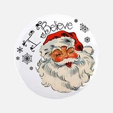 "I believe in Santa 3.5"" Button"