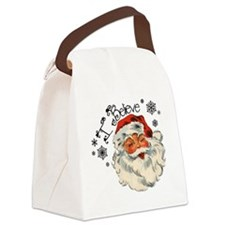I believe in Santa Canvas Lunch Bag