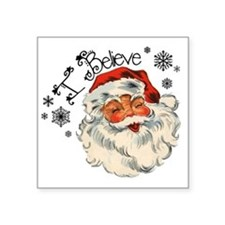 "I believe in Santa Square Sticker 3"" x 3"""