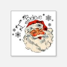 "I believe in Santa Square Sticker 3"" x 3"""