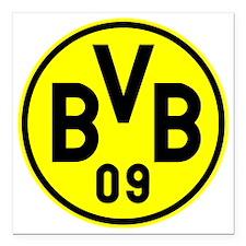 "Borussia Dortmund Square Car Magnet 3"" x 3"""