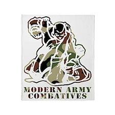 Modern Army Combatives Woodland Logo Throw Blanket