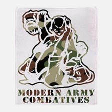 Modern Army Combatives Woodland Logo Throw Blanket