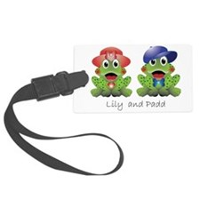 "Frogs ""Lily and Padd"" Luggage Tag"