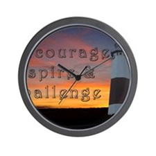 Encourage, Inspire  Challenge1 Wall Clock