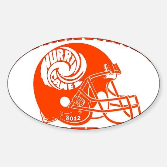Hurricanes Football Swirl Sticker (Oval)