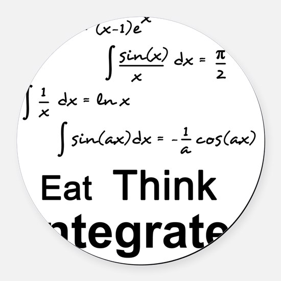 Eat. Think. Integrate. Round Car Magnet