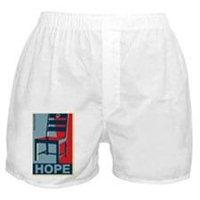 Obama - Hope and a Chair Boxer Shorts