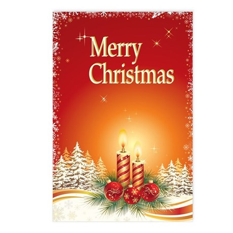 Merry Christmas Holiday C Postcards (Package of 8)