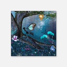 """Enchanted Forest Square Sticker 3"""" x 3"""""""