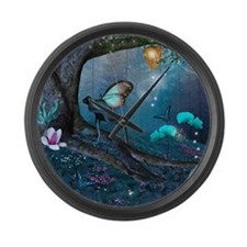 Enchanted Forest Large Wall Clock