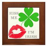 Kiss Me, I'm Irish Framed Tile