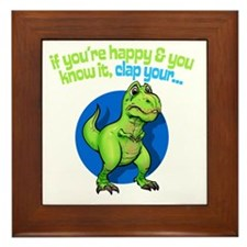 If youre happy Framed Tile