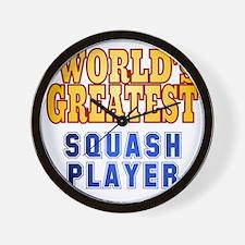 World's Greatest Squash Player Wall Clock