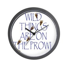 Wild Things Are On The Prowl Wall Clock