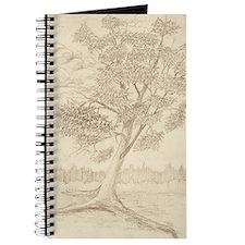 Oak tree pencil drawing Journal