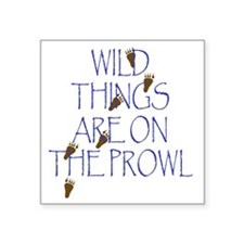 """Wild Things Are On The Prow Square Sticker 3"""" x 3"""""""