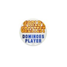 World's Greatest Dominoes Player Mini Button