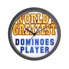 World's Greatest Dominoes Player Wall Clock
