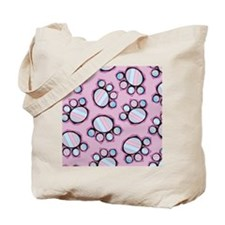 Colorful Pawprints Tote Bag