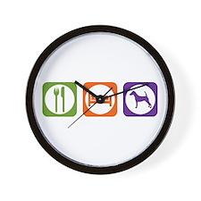 Eat Sleep Terrier Wall Clock