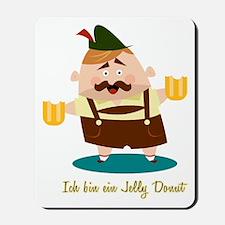 Ich bin ein Jelly Donut Mousepad