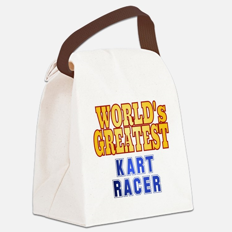 World's Greatest  Kart Racer Canvas Lunch Bag