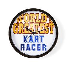 World's Greatest  Kart Racer Wall Clock