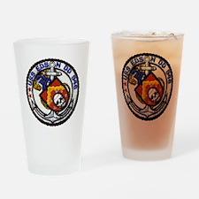 uss edson patch transparent Drinking Glass