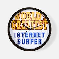 World's Greatest Internet Surfer Wall Clock